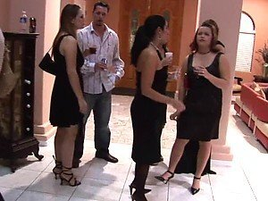 Irresistible Ladies Have Hardcore Sex In A Party