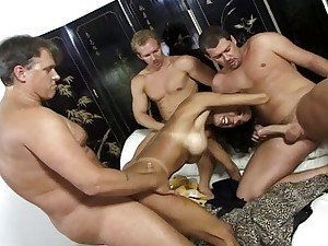 Busty latina treats all dicks as equals