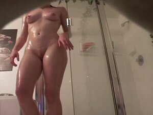 Candid girl from shower