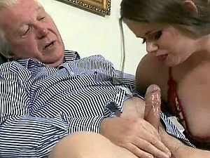 Jenny Noel Gets Dirty And Fucks With And Old Man In Hot Threesome
