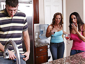 Kayla's little sister cannot stop bragging about her husband's dick. After being bothered one too many times, Kayla & Veronica decide to go see for themselves if it was just a hype or if Jordan really had a big dick. After seeing how big his dick was, Kay