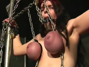 Tits turn purple in the dungeon