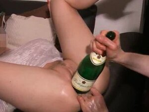 Brutal fisting and champagne bottle fuck