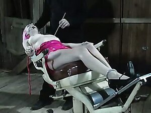 Nose pricking time with inky pink haired slut on the dungeon of lust