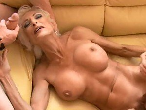 Busty and Hot Blonde MILF Fucked By Two Cocks