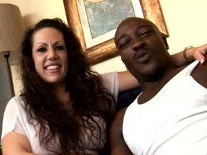 Lustful Brunette MILF Gets Her Hairy Cunt and Ass Fucked by Black Dick