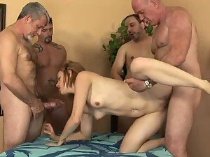 Wild Teen Kelsey Tyler Gets Gangbanged By A Pack Of Horny Men