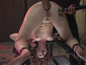 Cum loving whore has her clit vibed as her asshole is fisted hand deep
