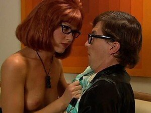 Redhead Beverly Lynne Masturbating with her Sexy Glasses On
