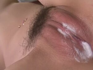 Yuu grinds her pussy and then has her pussy banged in an orgy