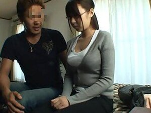 Naturally Busty Japanese Sucking and Fucking In Hot Porn Vid