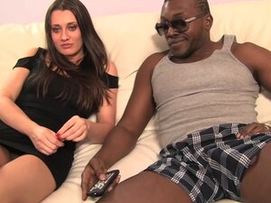 Sexy model enjoying interracial sex