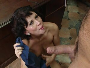 Raunchy Brooklyn Lee gets showered with hot cock juice
