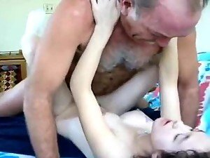 Old Guy Fucks The Juice Out Of Young One