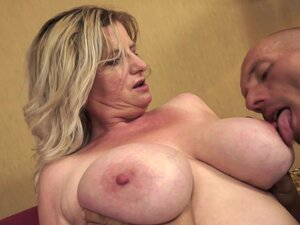 Granny blonde fuck with a young dick