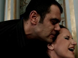 Dark-haired babe was fucked in BDSM style