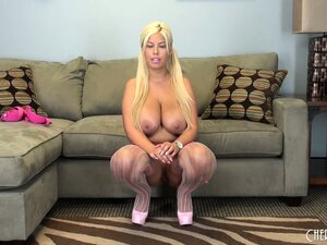 The huge hooters of hot blonde MILF Bridgette B are a sight to behold